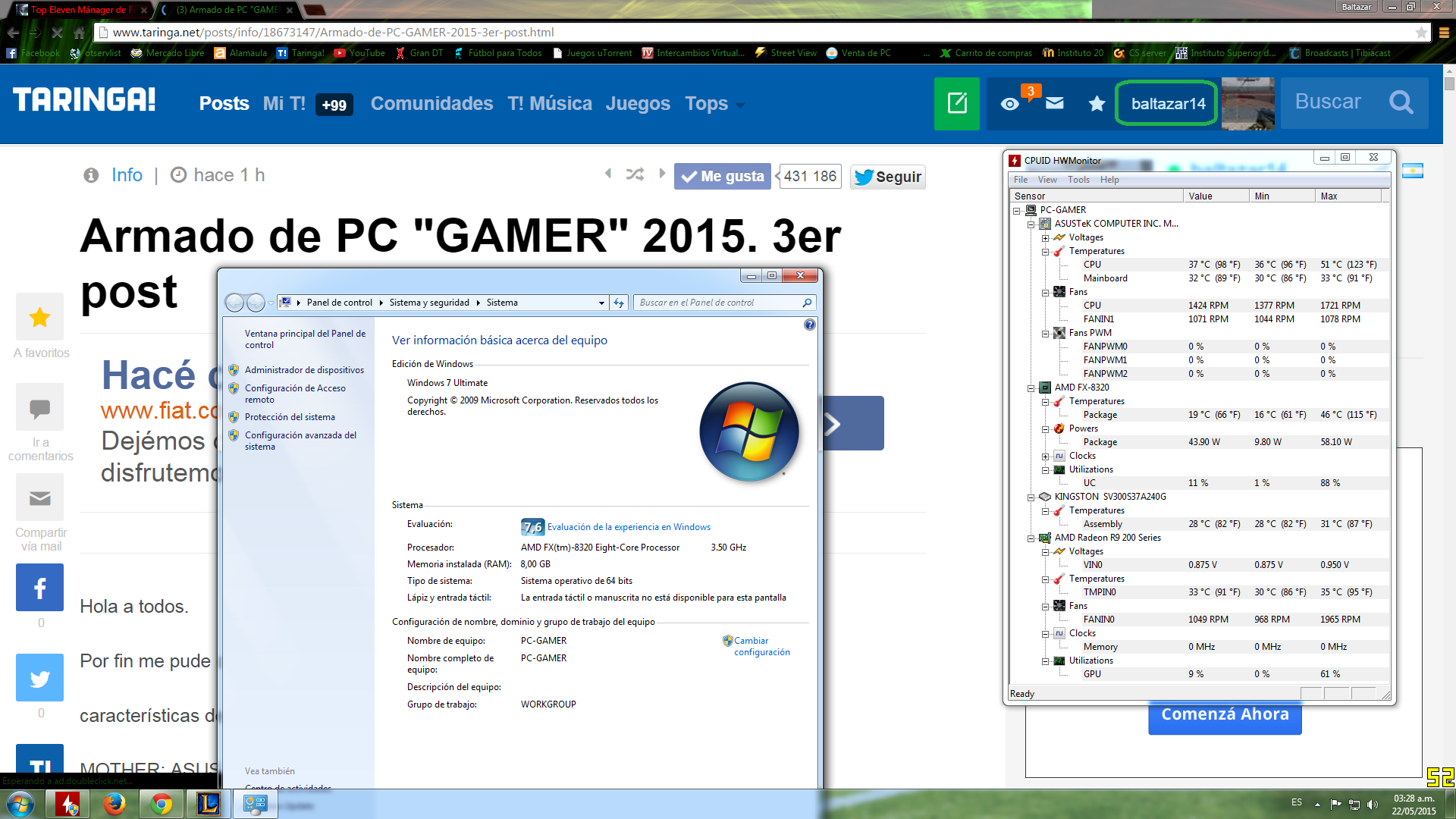 "Armado de PC ""GAMER"" 2015. 3er post"