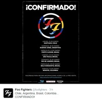 Vamosssss la puta madre Foo fighters en enero!!!!!!!