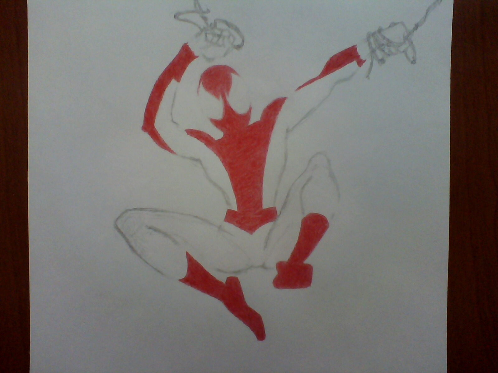 Dibujo propio de Ultimate Spider-Man