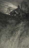 #Arte    CF William Mielatz, Old House in Wind, 1906