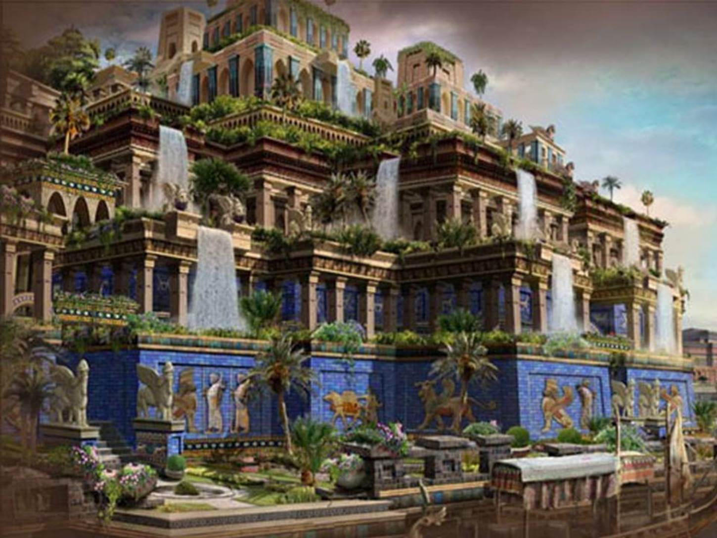 Babylonian hanging garden pictures Hanging Gardens of Babylon History Pictures m