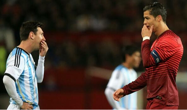 Ronaldo y Messi amables Muy