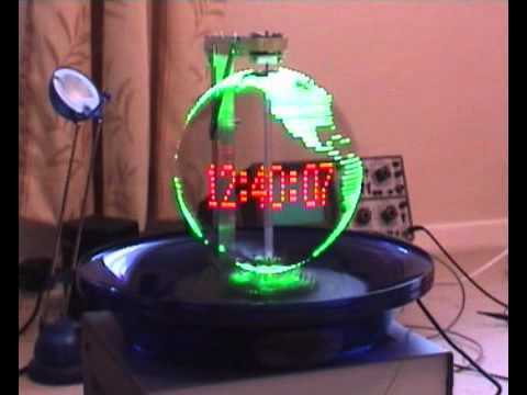 propeller clock I got this idea by browsing the web i found by hazard mr bob blick 's page who make the first propeller clock i began to check how can i build one myself base on avr at90s2313 i saw rapidly that my mcu must be clocked very fast to make all the calculations needed to light the leds at the right place.