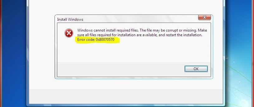 Error 0×80070570 al instalar Windows 7,8, y 8 1 [SOLUCI    en Taringa!