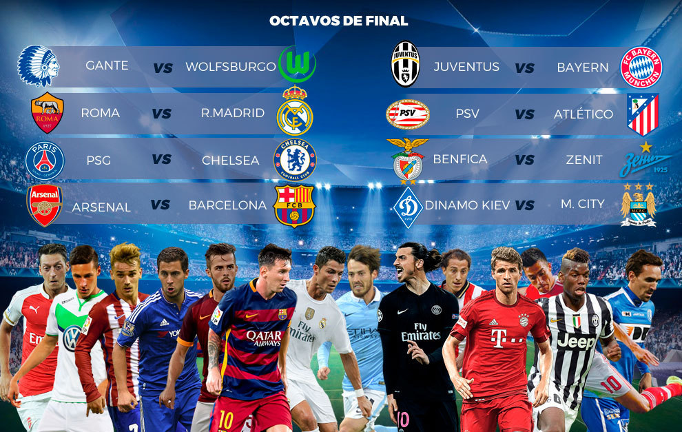 Ya están los cruces de Champions League