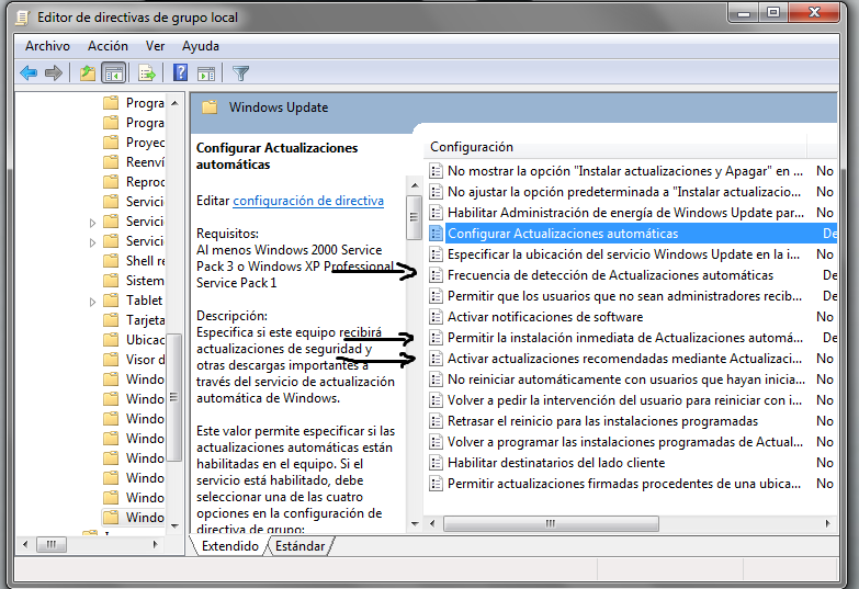 Desactivar Windows Update Win7 & Win8 de forma permanent