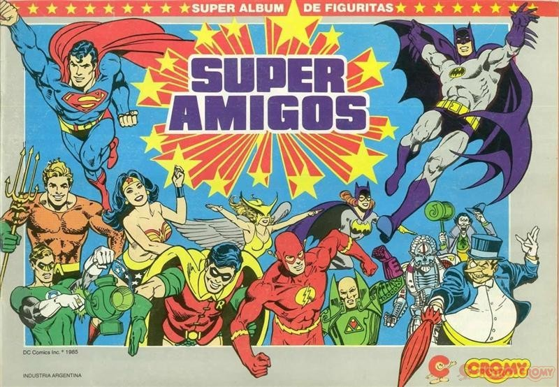 Album Super Amigos - figuritas CROMY - 1985